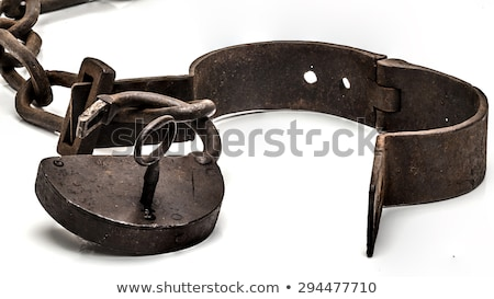 Handcuffs or legcuffs on legs Stock photo © ia_64