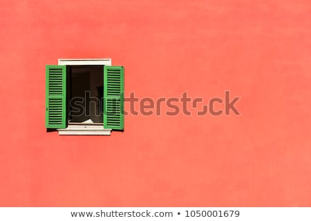 Venster Open houten mooie bruin Stockfoto © vlaru