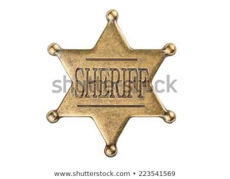 şerif · duvar · yazısı · eski · tuğla · duvar · güvenlik · duvar - stok fotoğraf © shutswis
