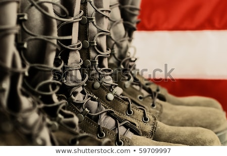 Boots with US flag Stock photo © njnightsky