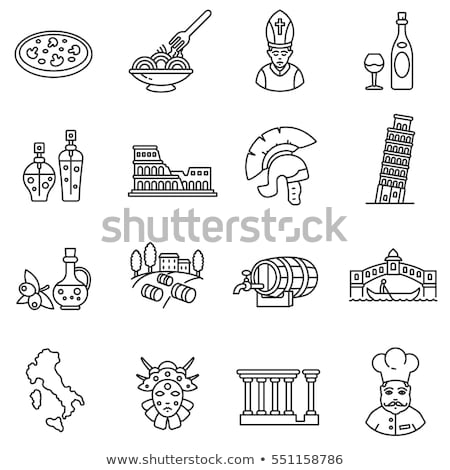 set of italy icons vector illustration stock photo © netkov1