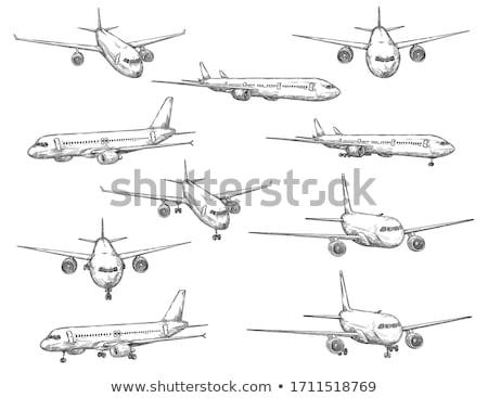 Sketched Types of Air Transport  Stock photo © igorij