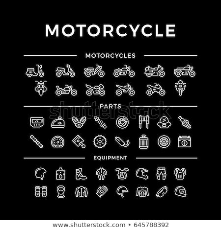 мотоцикл перчатки линия икона веб мобильных Сток-фото © RAStudio