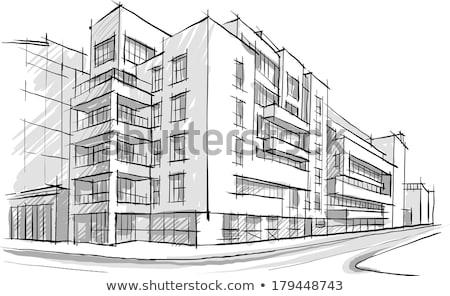 binalar · örnek · evler · ev · ağaç - stok fotoğraf © djemphoto