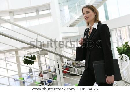 haast · omhoog · vertragen · beneden · business · man - stockfoto © dash