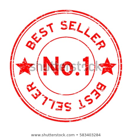 Number One Quality Guaranteed Red Seal Vector Icon Stock photo © rizwanali3d