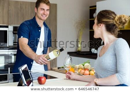 açılış · şişe · şarap · ahşap · grup - stok fotoğraf © piedmontphoto