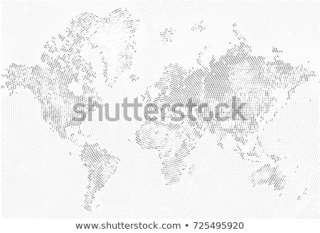 world map with halftone effect stock photo © orson