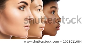 Stock photo: Black beauty - Female face