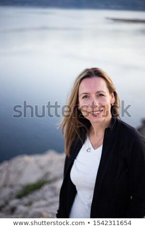 Disfrute hermosa feliz mujer sonriente rubio pelo Foto stock © Victoria_Andreas