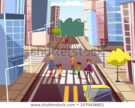 Criança caminhada rua muletas criança raça Foto stock © zurijeta