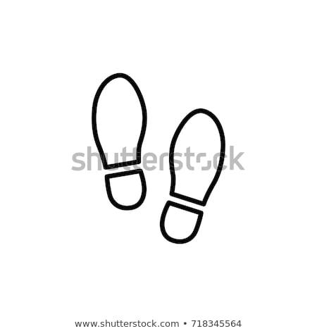 footprint line icon stock photo © rastudio