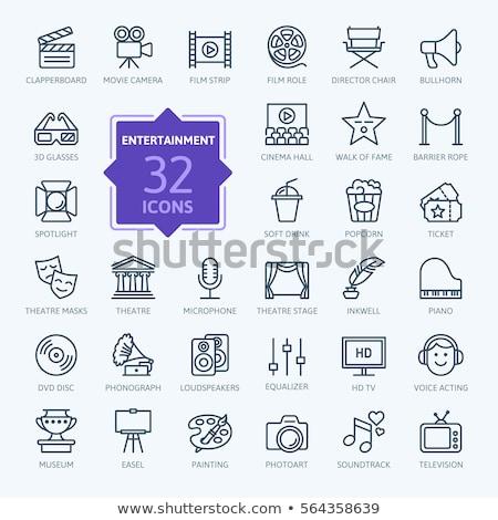 Ligne icône web mobiles infographie Photo stock © RAStudio
