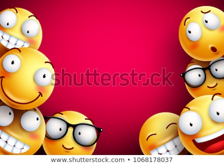 Background with group of smiley emoticons Stock photo © ikopylov