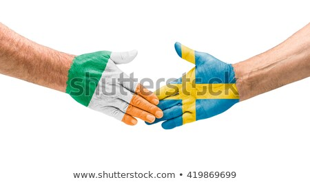 Football teams - Handshake between Ireland and Sweden Stock photo © Zerbor