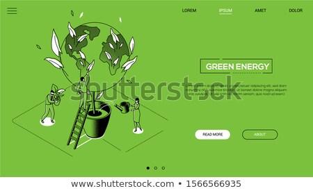 vert · eco · ville · durable · développement · nuages - photo stock © -baks-