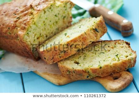abobrinha · pão · fresco · fatias · raso · comida - foto stock © stephaniefrey