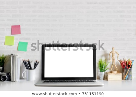 Comfortable workplace with laptop on white Stock photo © master1305