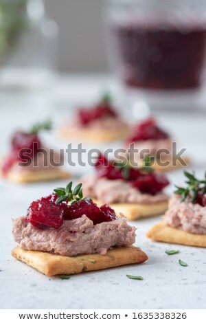 Smooth pate with cranberry sauce Stock photo © Digifoodstock