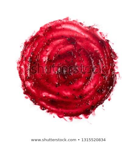 Dripping dark red on white Stock photo © Anterovium