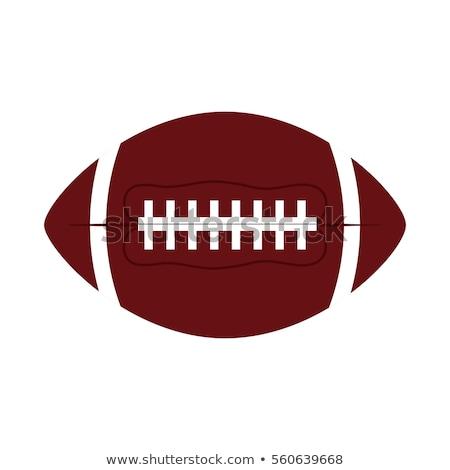 American football fire ball icon Stock photo © angelp