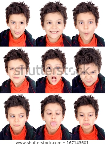 Facial expressions of boys and men Stock photo © bluering