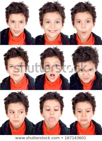 Arckifejezések fiúk férfiak illusztráció mosoly arc Stock fotó © bluering