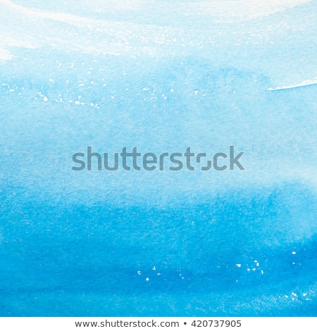 Blue colors Watercolor art border background  Stock photo © Taiga