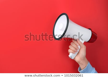 Colorful red megaphone or bullhorn Stock photo © adrian_n