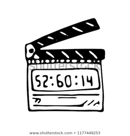 Clapboard sketch icon. Stock photo © RAStudio