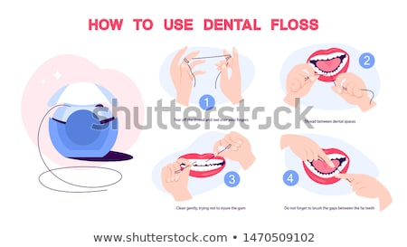 Soie dentaire illustration blanche alimentaire dentiste soie Photo stock © bluering