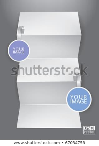 folded blank menu for your design Stock photo © m_pavlov