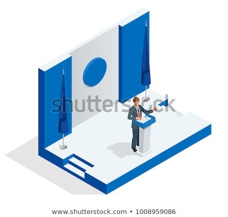 Metal podium isometry Stock photo © Oakozhan