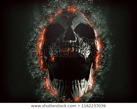 skull with bones in dark stock photo © romvo