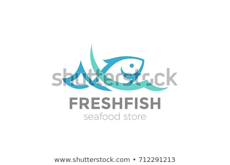 Stock foto: Fisch · logo · Vorlage · Symbol · Wasser · abstrakten