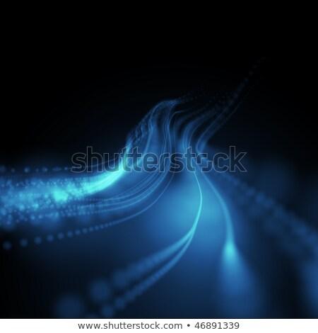 Chaotischen farbenreich Lichter schwarz Kunst Energie Stock foto © stokato