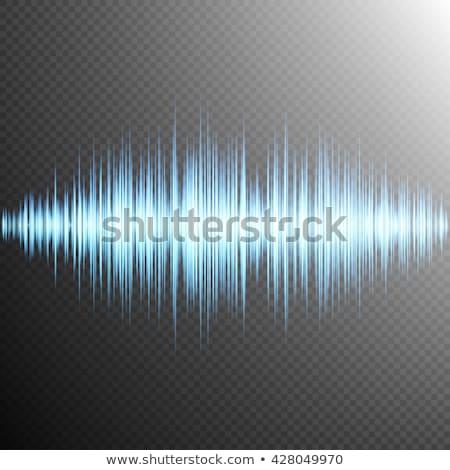 Sound wave on Transparent background. EPS 10 Stock photo © beholdereye