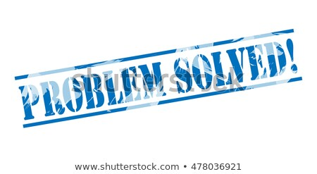 Solved rubber stamp Stock photo © IMaster