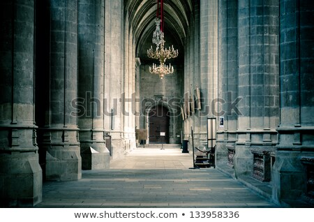 Interior of cathedral Stock photo © Givaga