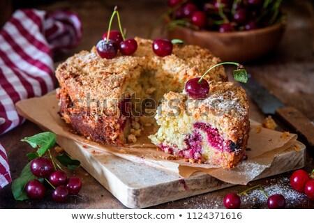 Sour cherry crumb bars Stock photo © Digifoodstock