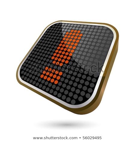 ünlem işareti ikon parlak kahverengi düğme imzalamak Stok fotoğraf © faysalfarhan