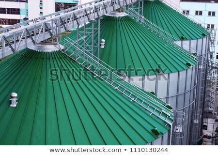 tahıl · görmek · modern · mavi · gökyüzü · inşaat · arka · plan - stok fotoğraf © klinker