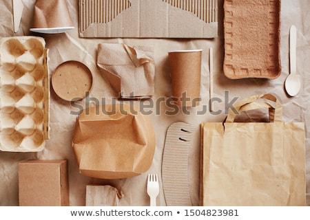 Сток-фото: бумаги · картона · контейнера · текстуры · пластиковых · можете