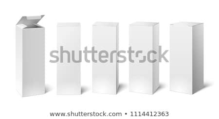 üres karton gyógyszer dobozok boglya fehér Stock fotó © dezign56