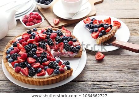 Berry crostata rosso fragola dessert Foto d'archivio © M-studio