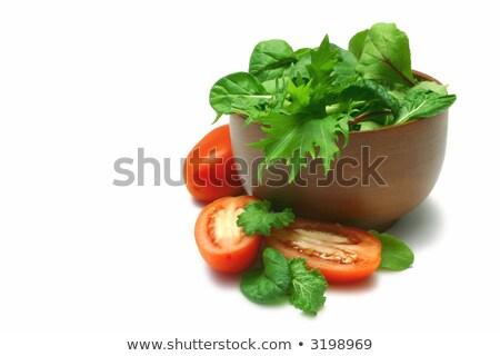 Romani tomates tigela fresco saudável Foto stock © Digifoodstock