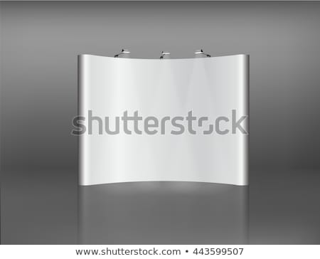 Blank trade showroom with white poster Stock photo © cherezoff