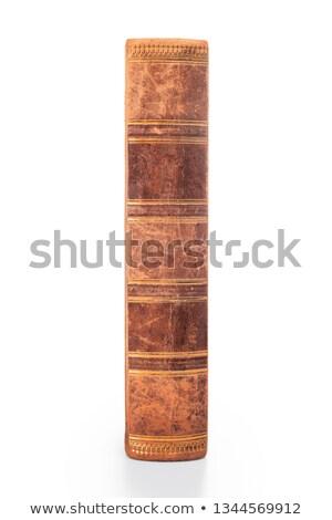 Oud boek geïsoleerd oude volume witte papier Stockfoto © popaukropa