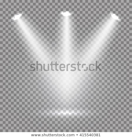 podium with lights and shining stars stock photo © sarts