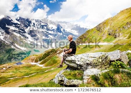 человека Top горные дизайна портрет Сток-фото © Yatsenko